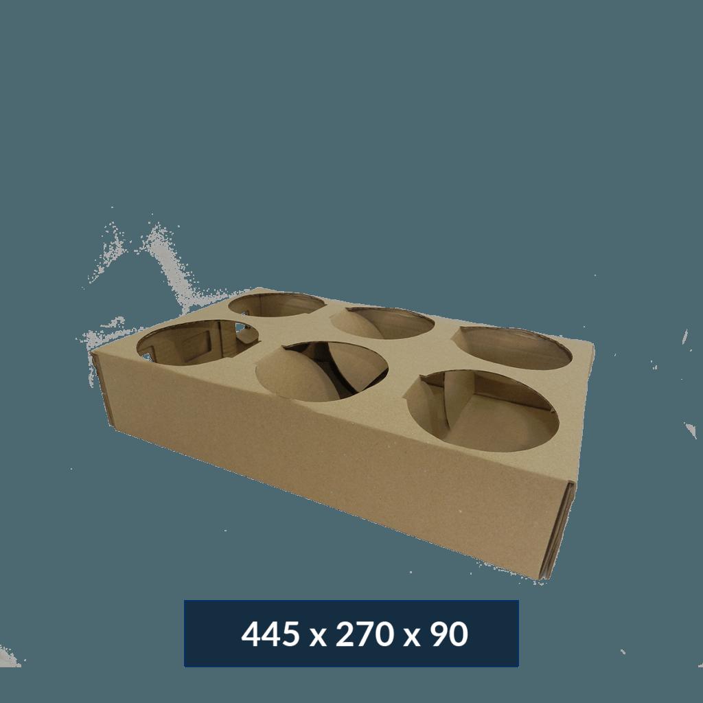 Caixa vasos de flor 6 vasos – FC 184